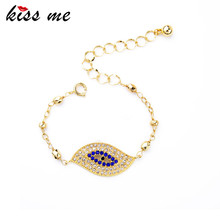 Set Crystal Eye Gold Color One Direction Charm Bracelet Women Jewelry Factory Wholesale(China)