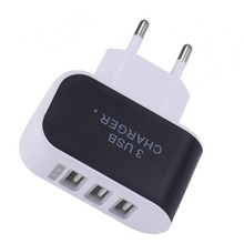 Travel Charger Adapter 3 USB  EU Wall Home Travel Charger Adapter for iPhone6 6s 6 plus 5 4 4S for Samsung for HTC USB Charger