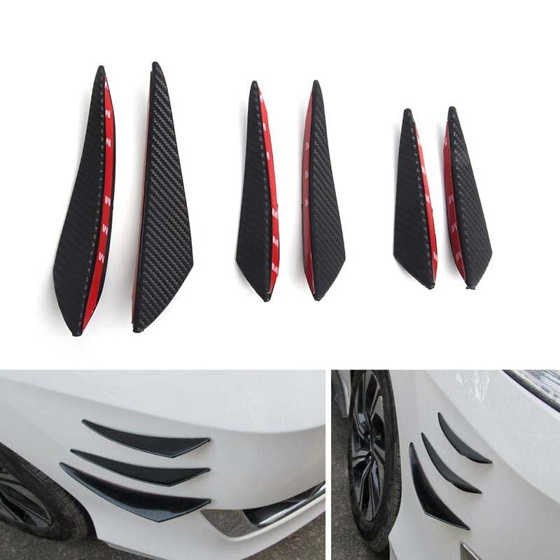 4PCS Universal Fit Spoiler Front Bumper Lip Fins Canards Splitters Chin Diffuser