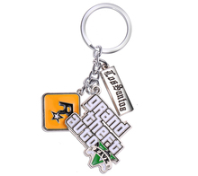 MS JEWELS 6pcs GTA5 Game Grand Theft Auto V Keychain Metal Key Rings Chaveiro Key Chain Jewelry Key Promotion Gifts Wholesale