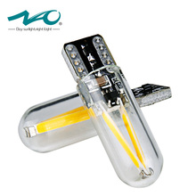 NAO W5W led Bulb T10 LED drl Car interior light SMD 194 168 COB Glass Auto Filament Lamp 12V 24V  White Yellow Crystal blue New