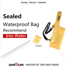 Sealed Waterproof Walkie Talkie Bag For Baofeng UV-5R uv 5r UV-5RE BF-888S TG-UV2 Yaesu Motorola Walkie Talkie Waterproof Case(China)