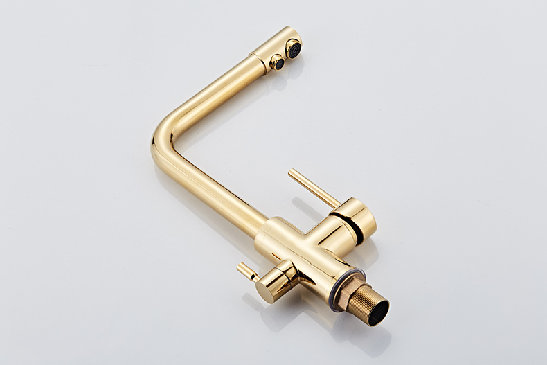 Kitchen Faucet With Filtered Water 360 Rotation Mixer Tap Brass Kitchen Faucet with Filter (10)