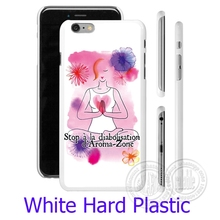 Yoga Womens Health White Phone Case for iPhone 5S 5 SE 5C 4 4S 6 6S 7 Plus Cover ( Soft TPU / Hard Plastic for Choice )