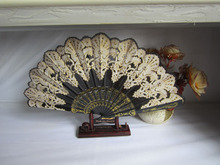 Chinese Folding Hand Fan Home Decor Silk Bamboo Flower Butterfly Pocket Fan For Party Supplies