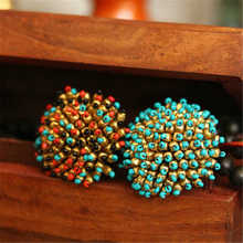R094 Indian Bolloywood fashion Flower Rings Multi Colors Vintage Actinian