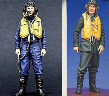 1/32 scale WW2 US Pilots 2 people WWII Resin Model Kit Model Free Shipping