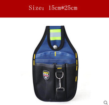 Small Size 3-Pocket Professional Electrician Tool Belt Pouch Utility Pouch Work Conveniet Tool Bag(China)
