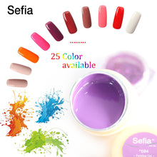 Sefia Brand Painting 5ml Nail Gel LED UV Lamp 25 Solid Colors Gel Polish Nail Art Design Beauty Salon Practice Training