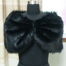 Black Red Plush Faux Fur Bridal Wedding Jacket Ivory Cape Wrap Red Shrug Bolero White Shawls