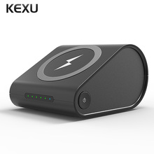 KEXU 2 in 1 Qi Wireless Charger Portable Power Bank Dock Station for Samsung Galaxy S7 Edge S6 Edge+Wireless Charger Power Bank