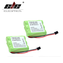 ELEOPTION 2PCS High Quality 3.6v 2000mAh NI-MH Phone Battery for Panasonic KX-A36 P-P501 for Uniden BT-905 BT905