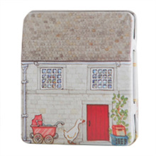 Best 1 pc mini European style small house candy storage box wedding favor tin box cable organizer container household, #2