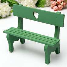 Multi Pattern Optional Mini Chair Bench Stool Ornaments Wooden Props Doll House Decoration Accessories Nice Gift for Childern(China)