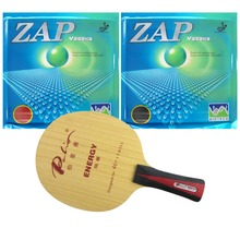 Palio ENERGY 03 Blade With 2x Yasaka ZAP 40mm BIOTECH H40-44 NO ITTF Rubbers for a Racket Shakehand long handle FL