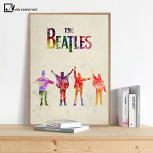 NICOLESHENTING Watercolor The Beatles Rock Band Minimalist Art Canvas Poster Print Wall Picture Modern Home Room Decoration(China)