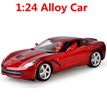 1: 18 alloy car, high simulation car model chevrolet corvette C7  , metal diecasts, the children's toy vehicles,free shipping