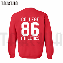 TARCHIA new brand free shipping hoodies sweatshirt back print college athletics 86 man casual parental homme boy girl can wear(China)