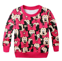 2018 Spring New Arrival Baby Kids Girls Red bowknot leisure sweater long sleeve T-shirt jerseys Boys clothes t shirt Top(China)