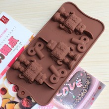 Silicone winding Robot hole Cake Chocolate Soap Pudding Jelly Candy Ice Cookie Biscuit Mold Mould Pan Bakeware Wholesales