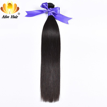 "Aliafee Hair Straight Hair Bundles 1Pc Brazilian straight Human Hair Can Buy 4 or 3 Bundles Deal Non Remy Hair Extension 8""-28""(China)"