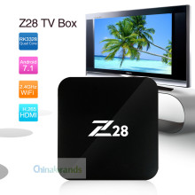 Z28 Android 7.1 TV 1G 2G RAM 8G ROM RK3328 Quad core 2.4GHz WiFi H.265 HDMI Set Top Box Smart Media Player With Remote Control