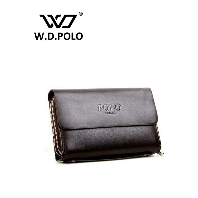 W.D.POLO PU leather Mens 3 layer long clutch wallets mens standard organized wallets phone wallet money purse M1729<br><br>Aliexpress