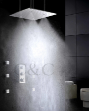 Buy Atomizing Rainfall Water Function 20 Inch Bath Shower Head Thermostatic Rainfall Bathroom Shower Faucet Set for $427.72 in AliExpress store
