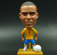 New KODOTO SoccerWe 2002 Brazil Ronaldo football soccer moving player star display collection dolls toys(China)
