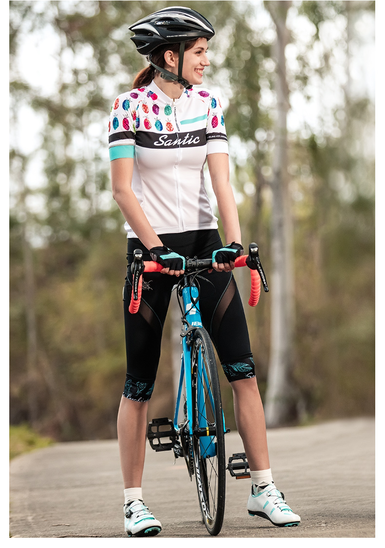 2018 Santic Cycling Shorts Women MTB Shorts Downhill Bike Shorts Bicycle Short Hollow Out Road Sport Cycling 34 Shorts Mesh (11)