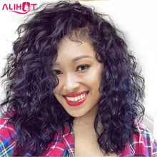 ALI HOT Short Bob Wigs With Baby Hair Pre Plucked Hairline Lace Front Human Hair Wigs For Black Women Brazilian Remy Hair(China)