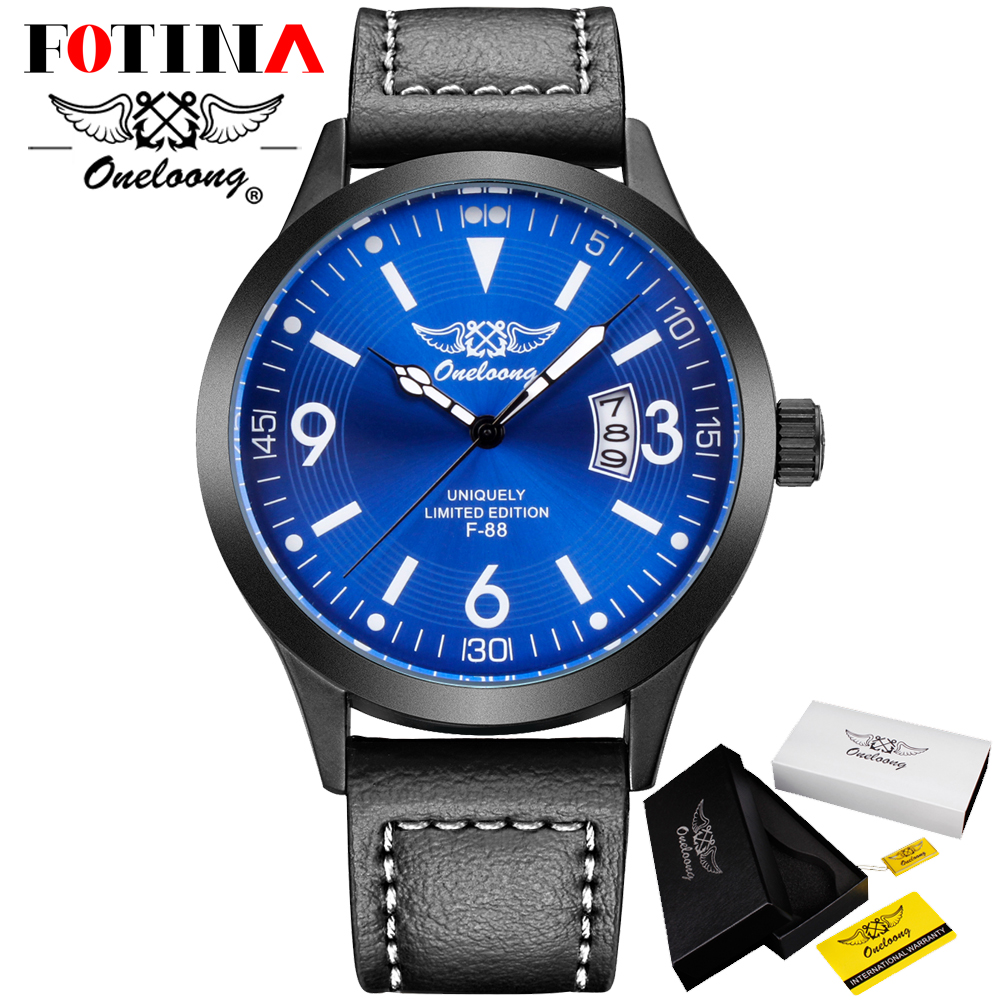 Fotina HK Brand ONELOONG Date Quartz Watch Men Casual Military Sports Watches Leather Wrist Watch Male Clock Relogio Masculino<br><br>Aliexpress