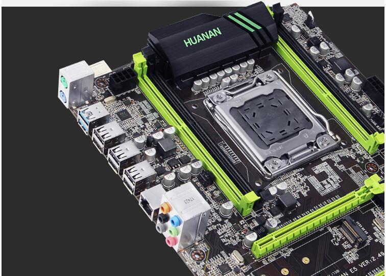 Интернет магазин товары для всей семьи HTB1dlwSjMDD8KJjy0Fdq6AjvXXak Скидка материнской HUANAN Чжи X79 материнской платы с M.2 слот Процессор Intel Xeon E5 2690 C2 2,9 ГГц памяти 16G (2*8) DDR3 1600 регистровая и ecc-память