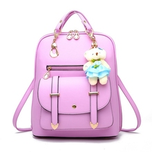 High Quality Backpack Women 2018 NEW Oxford Embossed Fashion Black Brand Back Pack School Bag For Teenagers Girls Bagpack purple