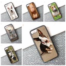 bull terrier dog puppies 2 cell phone case best material cover for iphone 4 4s 5 5s 5c SE 6 6s & 6 plus 6s plus 7 7 plus #K80