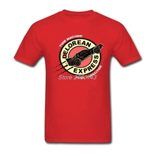 Novelty Tee Shirts Delorean Express Custom Short Sleeve Valentine's Couple Top Design T Shirt Plus Size