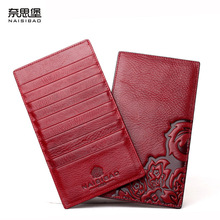NAISIBAO luxury women wallet Chinese Style purse designer Card Holder genuine leather wallets ladies vintage purses