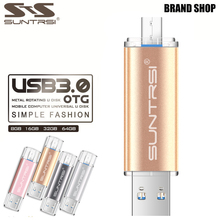 Suntrsi Pendrive 64GB Metal High Speed USB Flash Drive Real Capacity OTG Pen Drive USB Stick 32GB USB Flash Customized USB 3.0