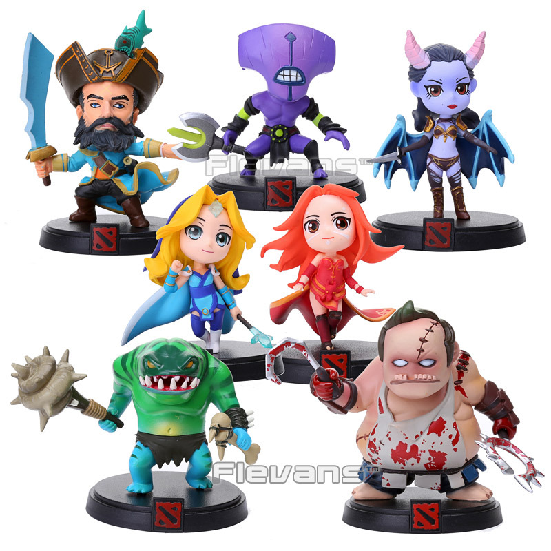 DOTA 2 Kunkka Lina Pudge Queen Tidehunter CM FV PVC Figures Collectible Toys 7pcs/set<br>