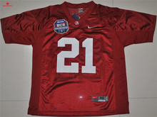 Free Shipping Nike Alabama Crimson Tide Eddie Lacy 42 White 2012 BCS Patch College Ice Hockey Jersey Dre Kirkpatrick 21(China)