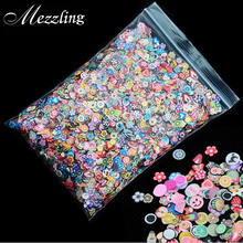 1pack 5mm Polymer Clay 3d Nail Art Decoration Mix Flowers Feather Fruit Fimo Cane For DIY Acrylic Nail Phone Supplies(China)