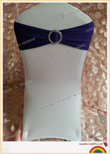 purple spandex band with plastic buckle for chair covers/spandex band