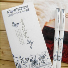 4 pcs/lot Vintage Retro Chinese Style Gel Pen Blue and white porcelain Stationery Office School Supplies Gift Free Shipping 508