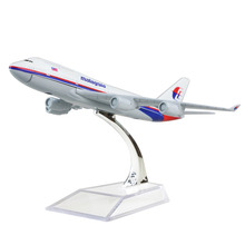 Malaysia Airlines Boeing 747 16cm airplane models child Birthday gift plane models toys Free Shipping(China)