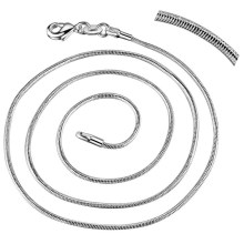 "10pcs snake chain free shipping silver plated Fashion jewelry Necklace chain 16""-30"" ZAP001"