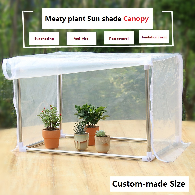 Sun shade net white mesh Shading Rainproof Succulent plants shed Insect net sunshade green plant canopy balcony greenhouse<br>
