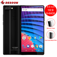"Vernee Mix 2 6.0""18:9 FHD+Screen 6GB+64GB Android 7.0 13MP Dual Rear Lens P25 Octa core 2.5GHz Smartphone Fingerprint Cellphone(China)"