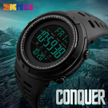 New Fashion Luxury Sport Watch Men SKMEI Digital LED Waterproof Outdoor Dress Watches Chrono Countdown Dual Time Wristwatches(China)