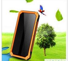 Dolidada Solar Power Bank 20000mAh External Battery Charger Backup Pack Dual USB LED Light Power Bank For iPhone Pho