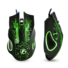 EASYIDEA Wired Gaming Mouse 5000dpi Professional USB Mouse Mice Changeable LED Light 6 Buttons Computer Optical Mouse For Gamer(China)